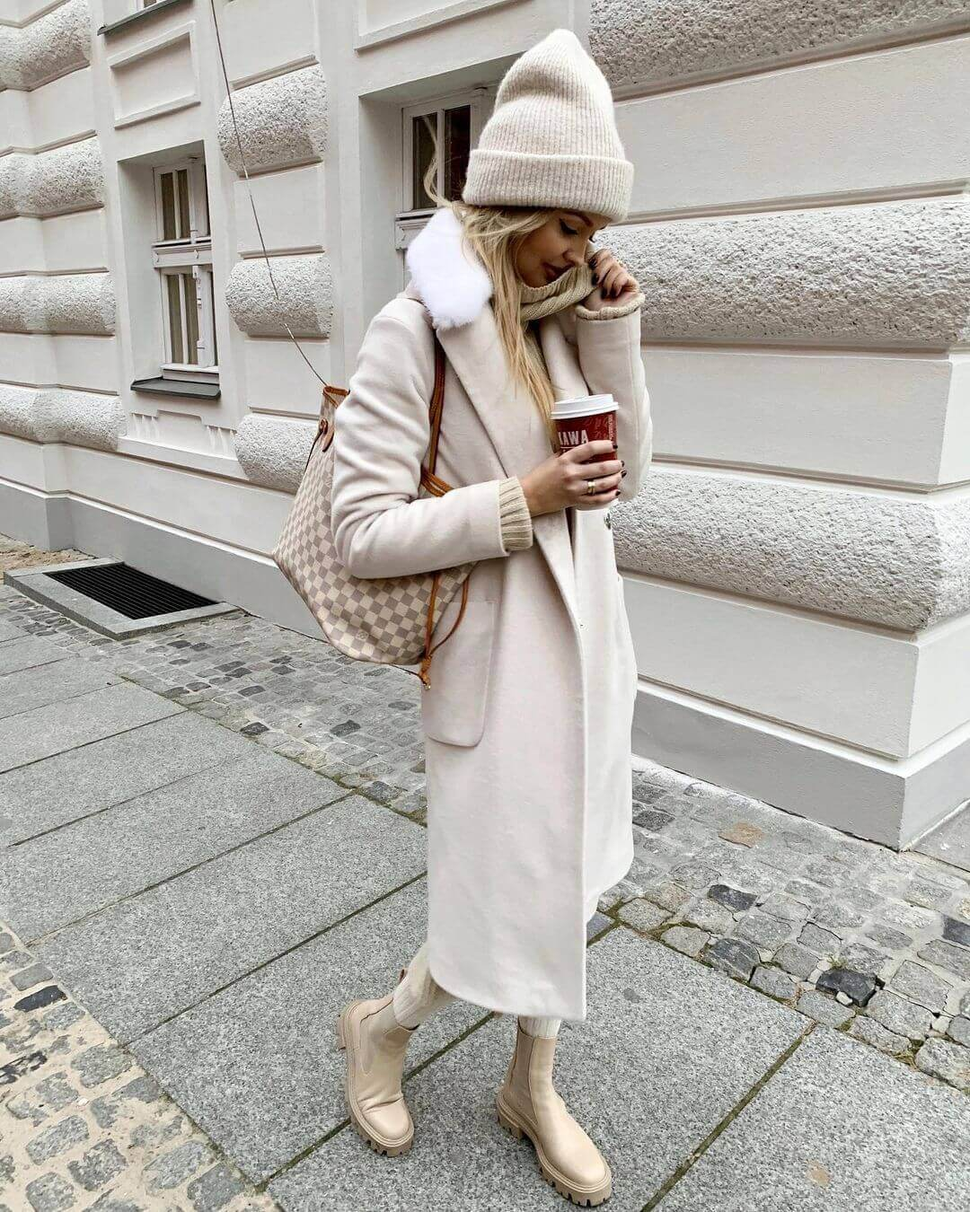 This Cozy Outfit Makes The Case For Chunky Beige Boots