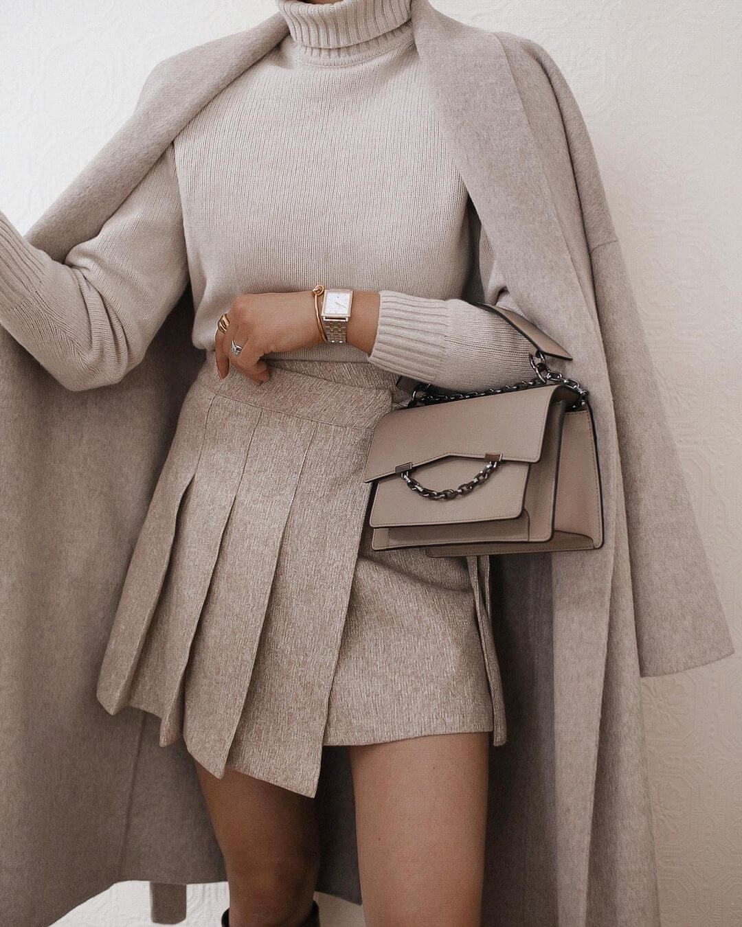 We Love This Modern Take On The Pleated Mini Skirt