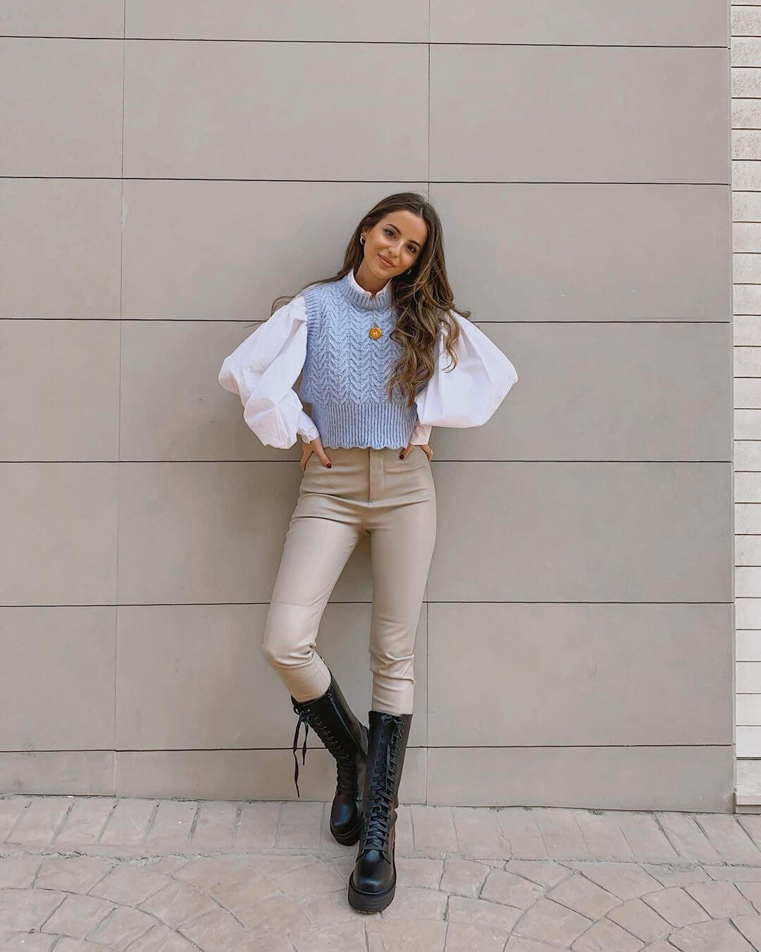 This Chic Outfit Makes A Case For The Shrunken Sweater Vest