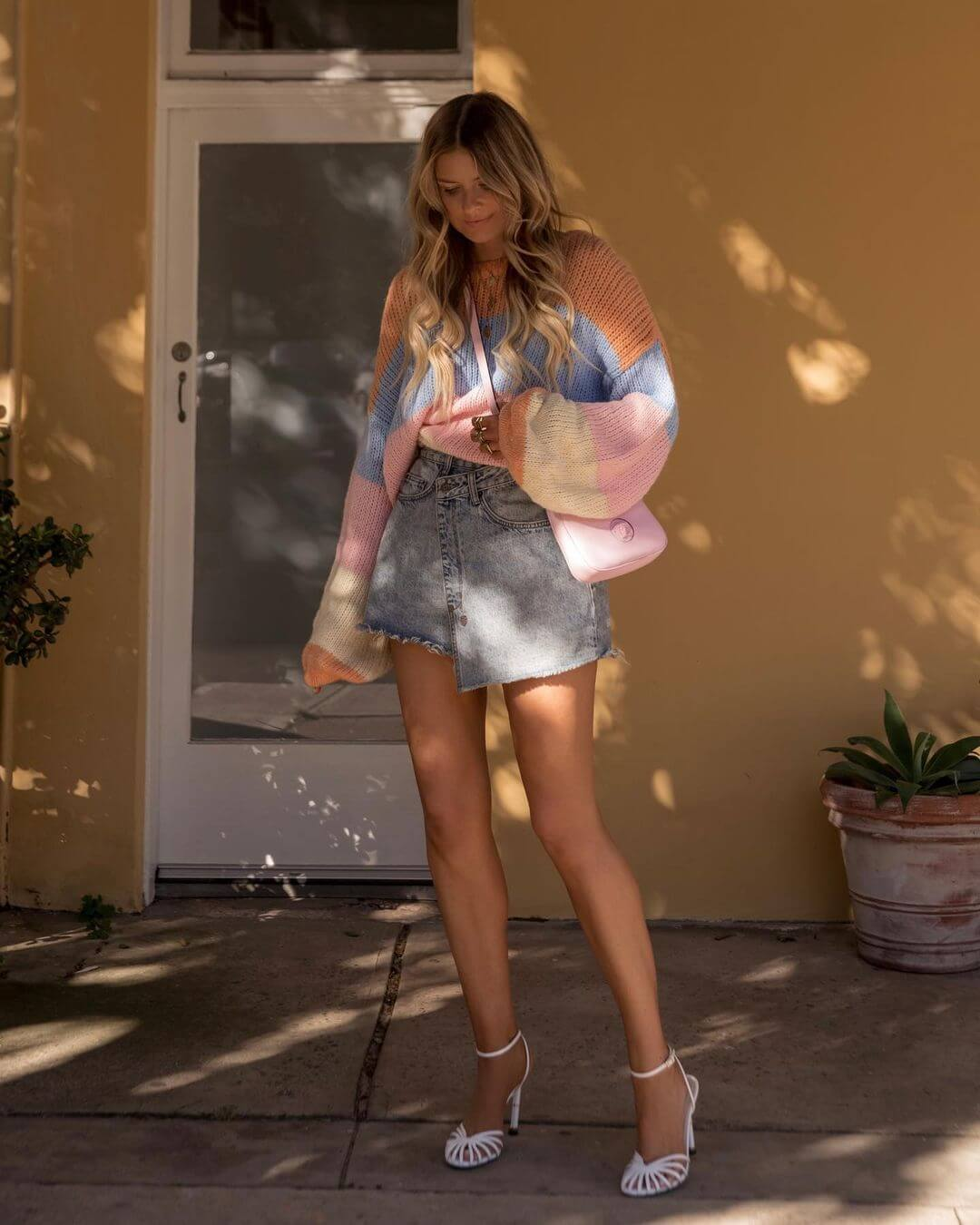 Master Transitional Dressing With This Pastel Outfit