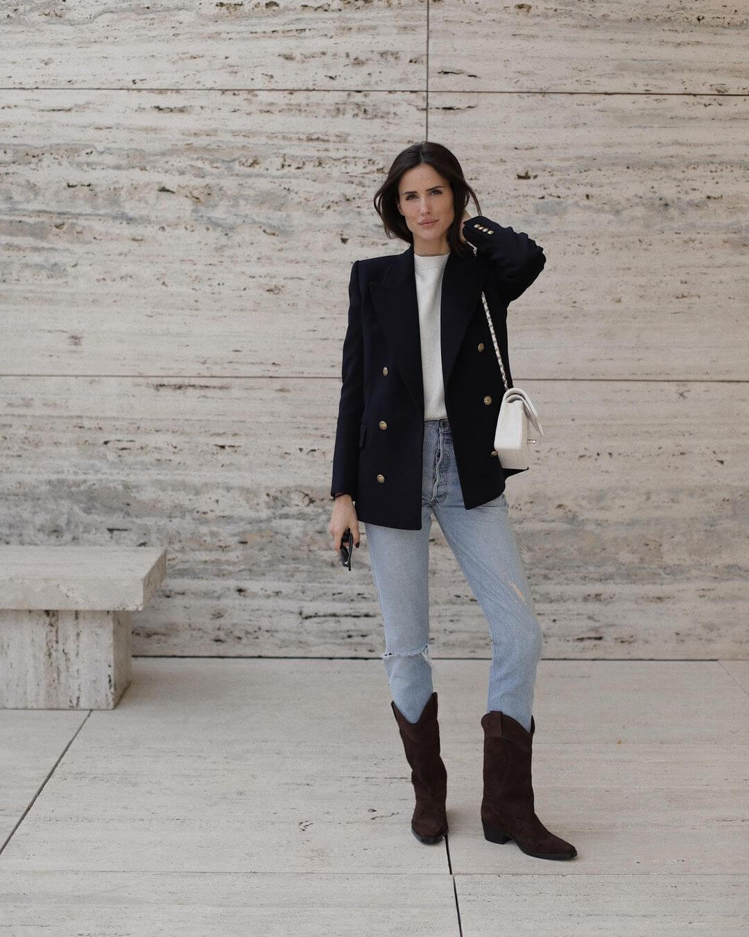We Love This Updated Take On Jeans And A Blazer