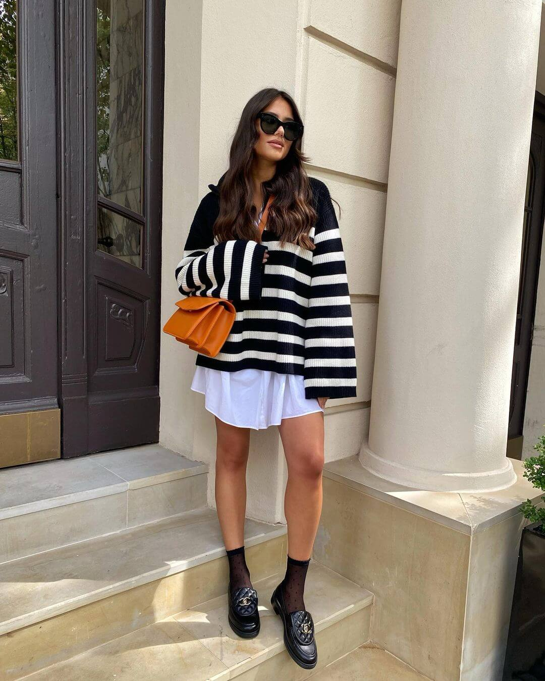 This On Trend Outfit Is Perfect For In-Between Weather