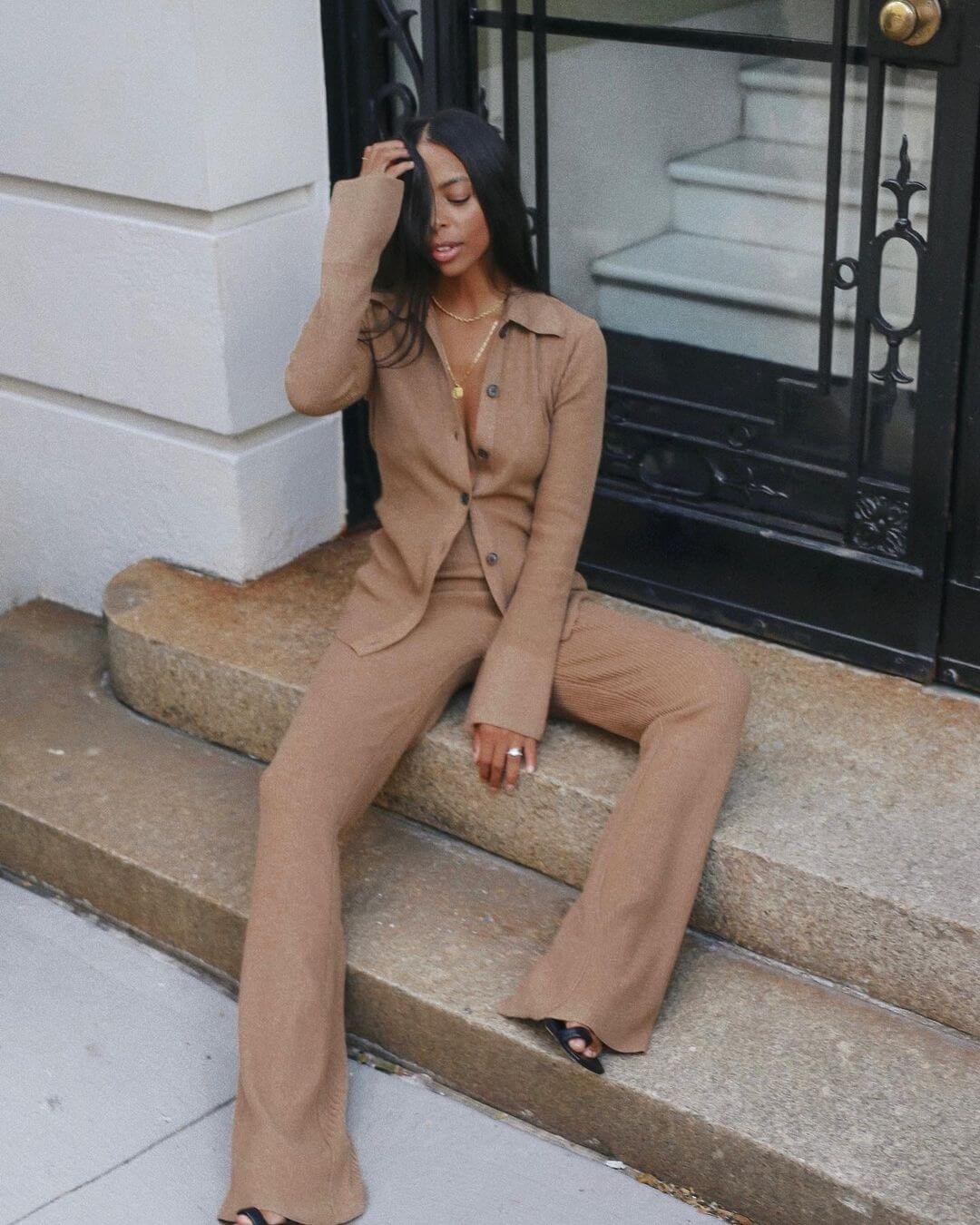 Step Into Fall Weekends With Collared Knit Sets