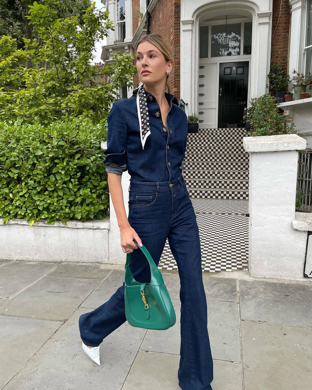This Outfit Proves You Need A Denim Jumpsuit For Fall