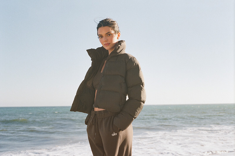 Kendall Jenner Stars In Alo's First Ever Holiday Jackets and Coats Campaign