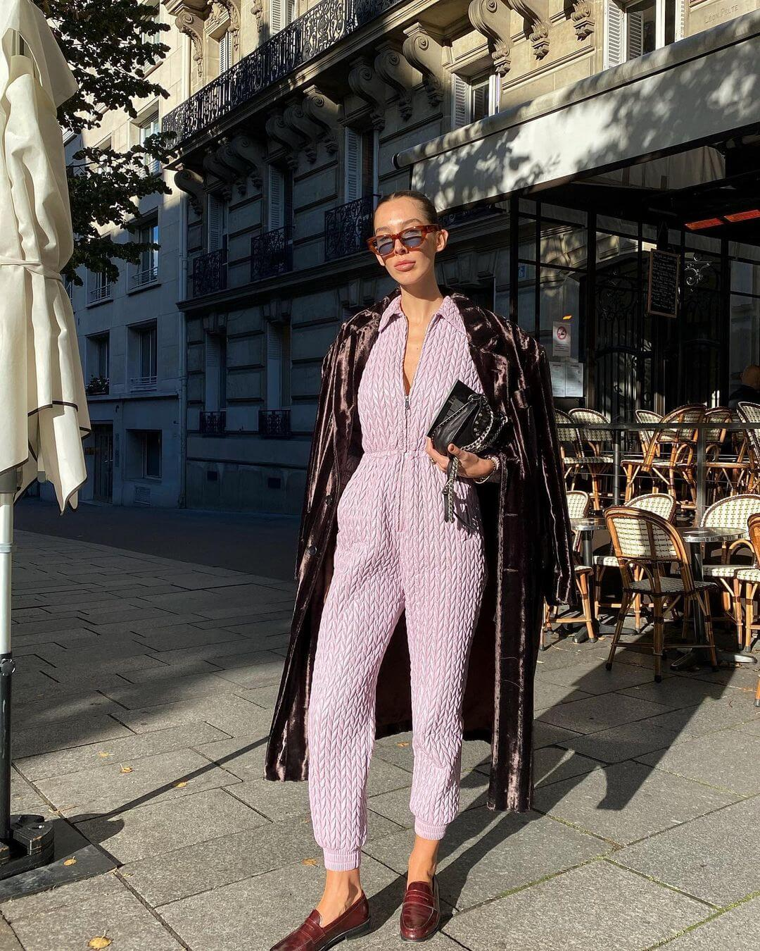 A Chic Loungewear Look That Can Pass For Polished Day Wear